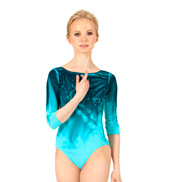 Adult Painted Boatneck 3/4 Sleeve Leotard