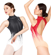 Adult Painted Mock Neck Tank Leotard
