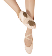 Adult Canvas Split-Sole Ballet Slippers