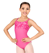 Girls Passion Flocked Camisole Leotard