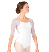 Adult Helena Wave Mesh 3/4 Sleeve Leotard