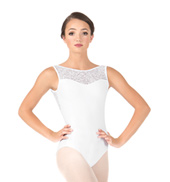 Womens Rose Mesh Tank Leotard
