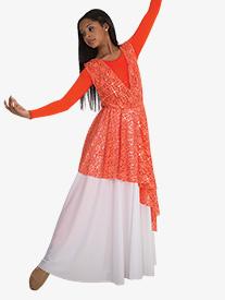 Girls Single Layer Worship Circle Skirt