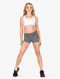 Girls Foldover Running Shorts
