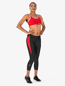 Womens Cropped Fitted Fitness Leggings