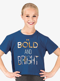 Girls Active Bold and Bright Graphic Print Short Sleeve Tee