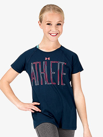 Girls Active Athlete Short Sleeve Tee