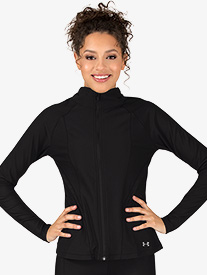 Womens Mock Neck Long Sleeve Workout Jacket