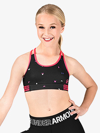 Girls Graphic Print Split Camisole Racerback Sports Bra