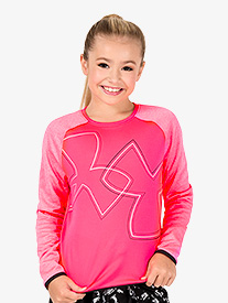 Girls Fleece Long Sleeve Workout Top