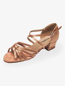 Womens 1.5 Heel Multi-Strap Ballroom Dance Shoes