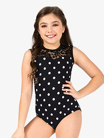 Girls Polka Dot Tank Leotard