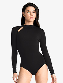 Womens Keyhole Long Sleeve Leotard