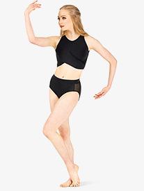 Womens Side Mesh Dance Briefs