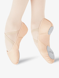 Girls Juliet Leather Split Sole Ballet Shoes