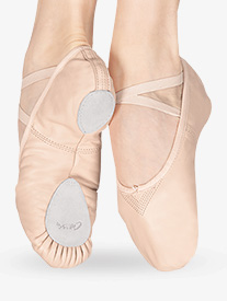 Child Cobra Leather Split-Sole Ballet Shoes