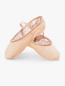 Child Daisy Leather Full Sole Ballet Shoes