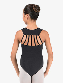 Girls Strap Back Tank Leotard