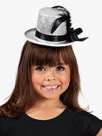 12-Pack Metallic Mini Top Hat Headbands
