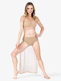 Adult Mesh Short Sleeve High-Low Dress