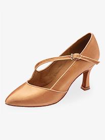 Womens 2 Heel Closed Toe Ballroom Shoes