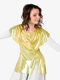 Womens Worship Metallic Tunic Pullover
