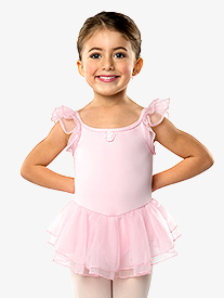 Girls Flutter Sleeve Dress