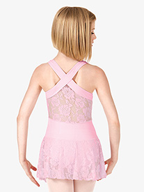 Girls Lace Back Tank Dress