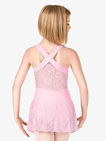 Girls Lace Back Tank Dress