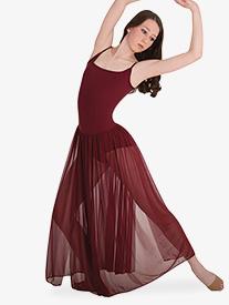 Adult Long Chiffon Panel Camisole Dress