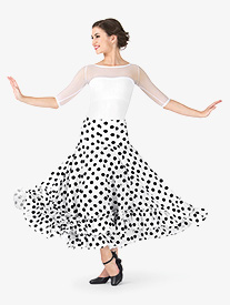 Adult Flamenco Polka Dot Skirt