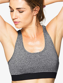 Womens Racerback Compression Bra Top