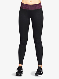 Womens Contrast Waistband Workout Leggings