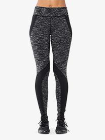Womens Contrast Stripe Fitness Leggings