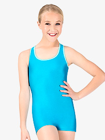 Girls Banded Racerback Tank Shorty Unitard