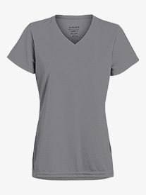 Womens V-Front Short Sleeve Workout Tee