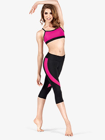Ladies Action Color Block Capri Pants