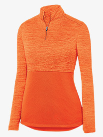 Womens Heather Quarter Zip Pullover