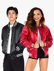 Adult Unisex Satin Sports Jacket