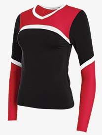 Girls Cheerflex Long Sleeve Shell