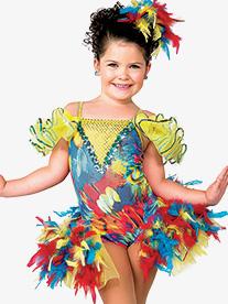 Girls This Little Bird Bustled Leotard Character Dance Costume