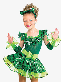 Girls Being Green Character Dance Costume Dress