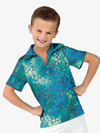 Boys Under The Sea Character Dance Costume Short Sleeve Top
