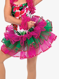 Girls Caribbean Jam Character Dance Costume Tutu Skirt