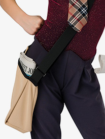 Performance Ribbed Knit Satchel Bag