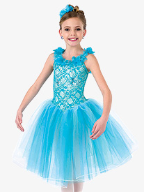 Girls Orpheus Floral Tank Ballet Costume Tutu Dress