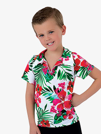 Boys Caribbean Jam Character Dance Costume Short Sleeve Top