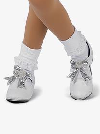Womens Performance Cotton Lace Trim Socks