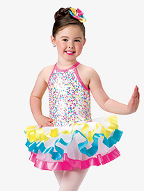 Girls Bubblegum Dance Costume Sequin Leotard