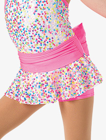Girls Bubblegum Dance Costume Sequin Skort